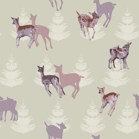 Deer Repeating Pattern Stock Vector - 10504808