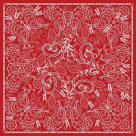 headscarf: Red Bandana Design