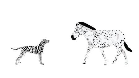 gmo: Genetically Modified Animals Illustration