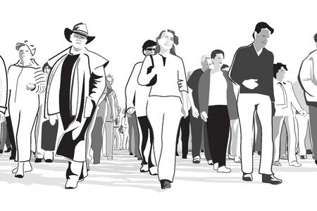 demonstrates: Street Protest Illustration