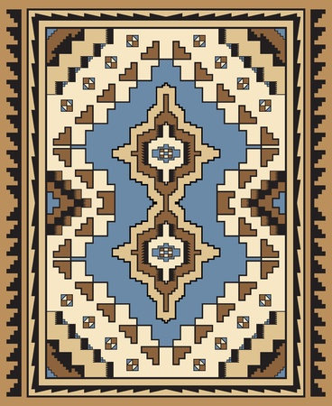 wool rugs: Geometric Ornamental Carpet Design Illustration