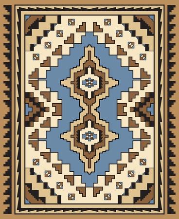Geometric Ornamental Carpet Design Stock Vector - 10996330