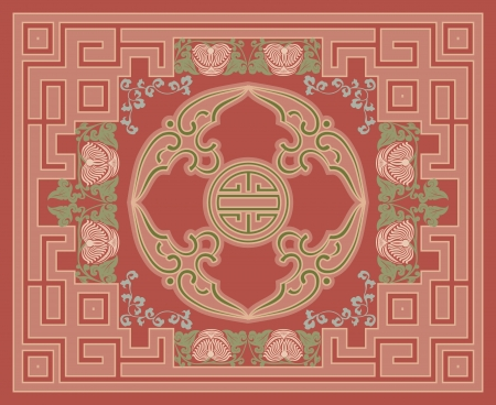 Ornamental rug design Vector