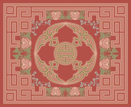 Ornamental tapijt ontwerp Stock Illustratie