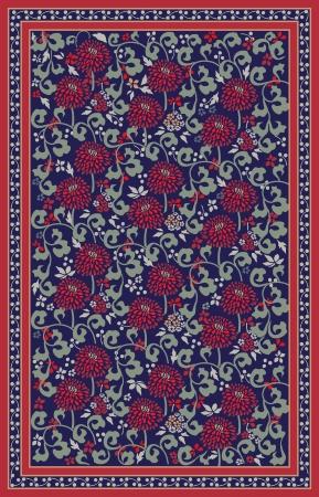 Retro floral carpet design Stock Vector - 10996334