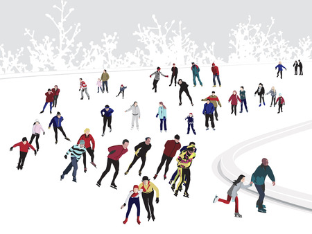 ice skating: Patinoire