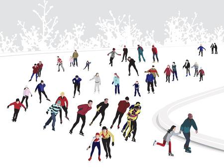 niño en patines: Pista de patinaje