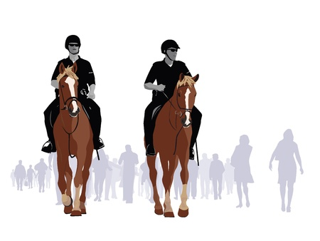mounted: Mounted Police Patrol