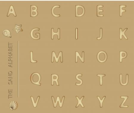 A-Z, Sand Alphabet Stock Photo - 11659262