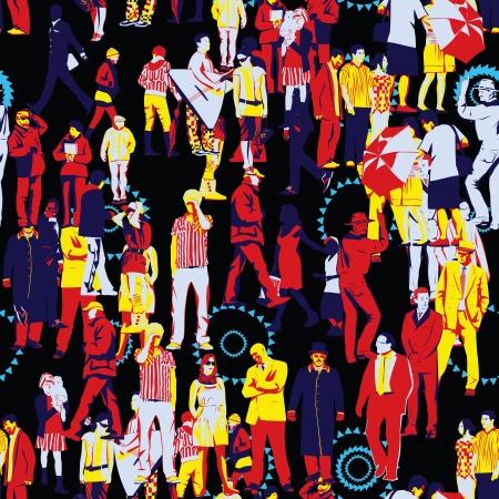 población: Gente sin patr�n Vectores