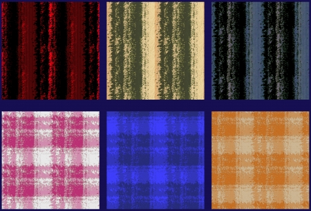 matching: Matching Striped and Checkered Seamless Patterns Stock Photo