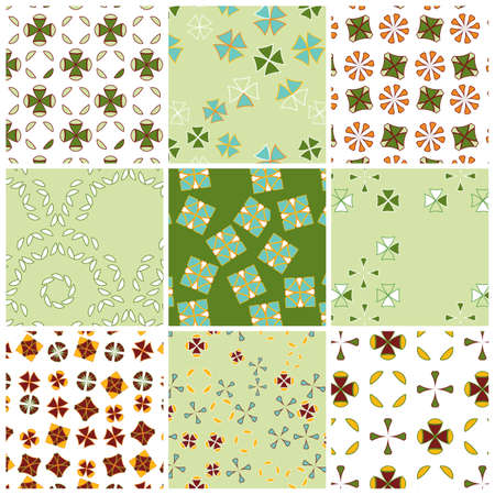 Geometric matching patterns in spring colors