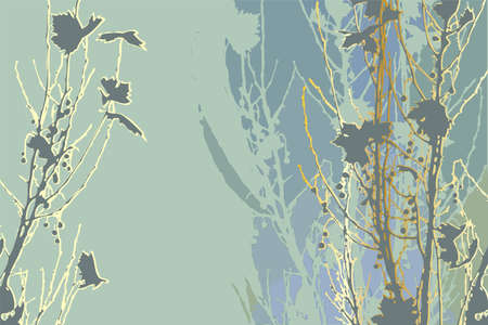 bluegreen: Abstract blue-green plant background  Illustration
