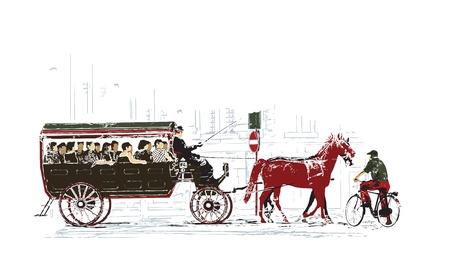 Green transport illustration Stock Vector - 13332494