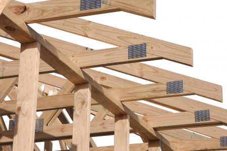 Roof detail of an Australian home under construction