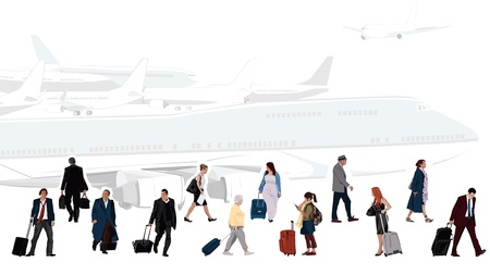 depart: Airport Illustration