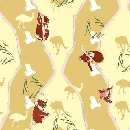 Koala repeating pattern Vector