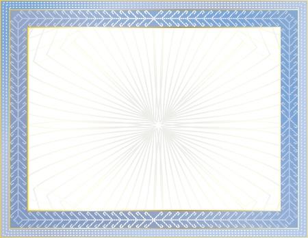 merit: Certificate template Illustration
