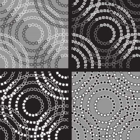 Abstract Stylish Seamless Pattern Set Stock Vector - 14100417