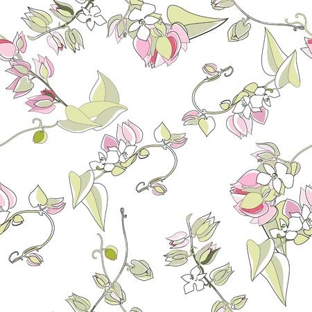 floração: Padrão sem emenda floral