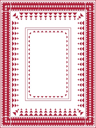 Design for Classic Christmas Tablecloth  Vector