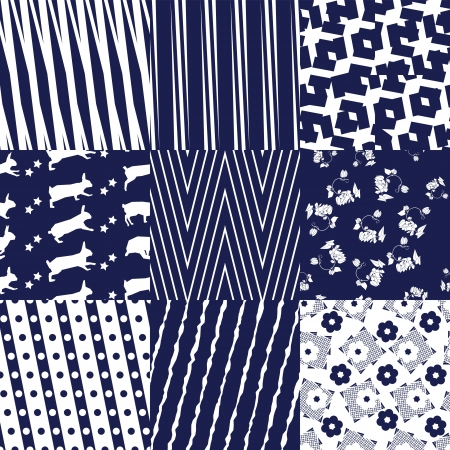 monochromatic: Repeating patterns stripped under uncommon angle  Illustration