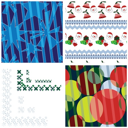 Festive patterns and borders set Vector
