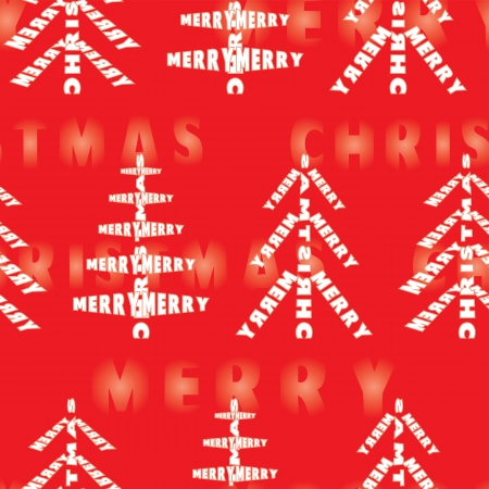 Merry Christmas seamless background Vector