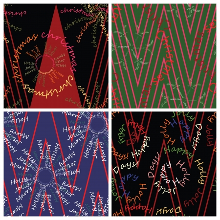 Christmas wrappers set Stock Vector - 14837932