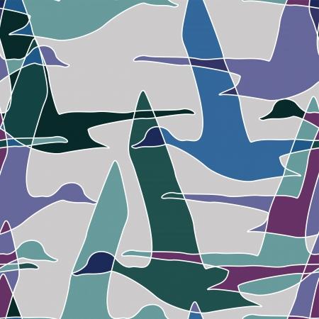 Vliegende eenden thema naadloze patroon