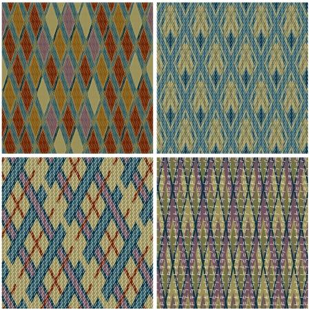 Het verzamelen van naadloze patronen in traditionele Jacquard stijl
