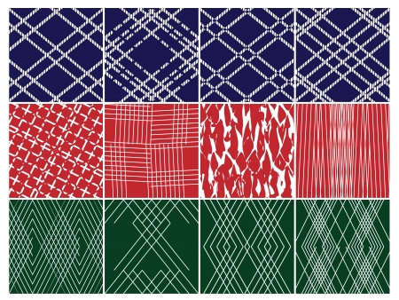 Repeating Patterns Set Vector
