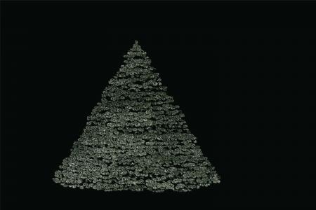 wintry: Editable Christmas Design Element - Wintry Fir-Tree  Illustration