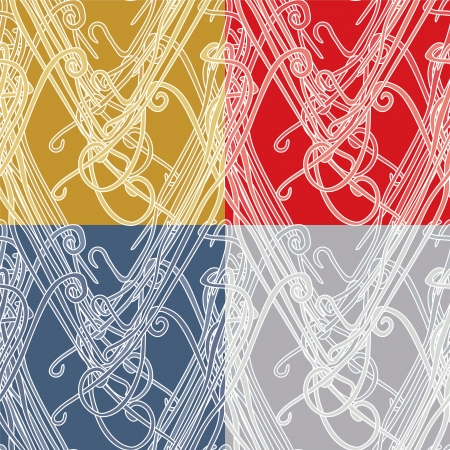 meshed: Abstract Mesh Pattern - four different color versions