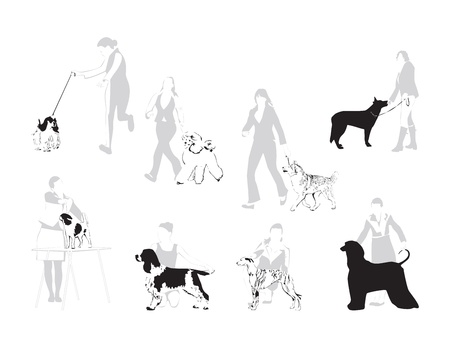 Le monde des expositions canines - illustration