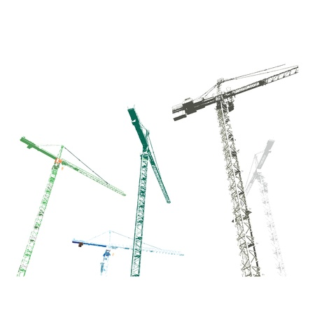 steel structure: Construction Site Illustration Illustration