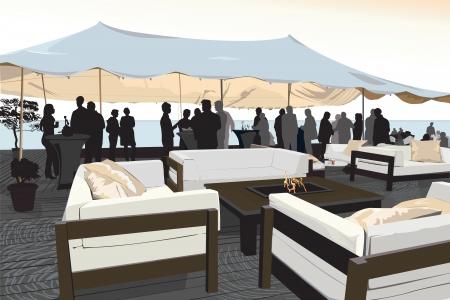 Beach Party - illustratie