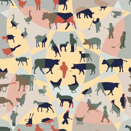 Farm theme seamless pattern Stock Vector - 17353886