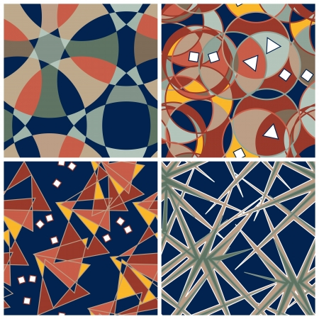 Abstract Matching Intricate Patterns Set Stock Vector - 17448143