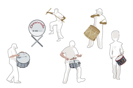 percussion: Percussionists; collection Illustration