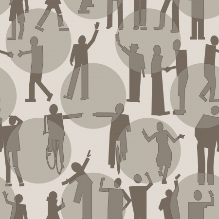 large crowd of people: People seamless pattern