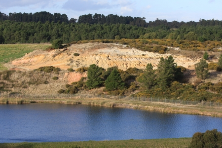 gold mine: Ballarat East Goldmine - place where Victoria s first gold rush began  1851  Stock Photo