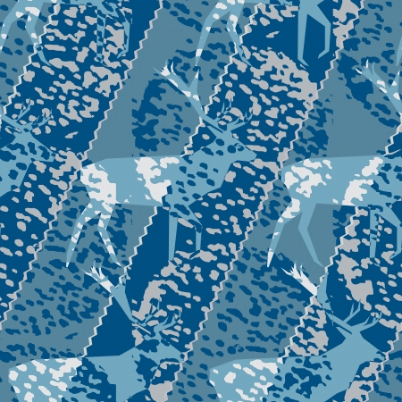 damhirsch: Blau Buck Hirsch Motiv saisonalen Muster