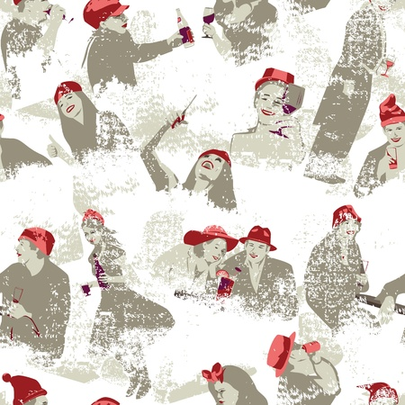 Cheers Seamless Pattern Vector