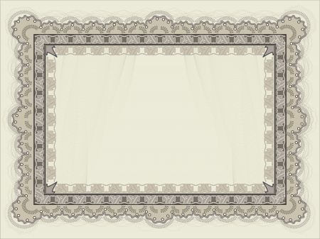 Blank Horizontal certificate template Vector