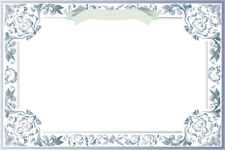 diploma border: Blank Certificate of Education Template Illustration