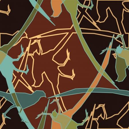 pheasant: Colorful Pheasant  Swatch Illustration