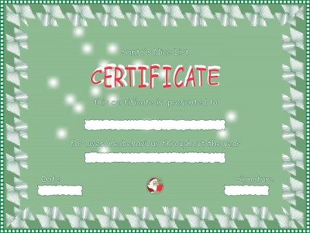 Nice List Certificate from Santa Vector