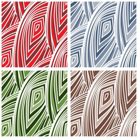 meshed: Abstract Mesh Pattern - four color versions