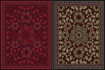 Carpet Design - two color variations